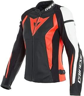 Dainese Nexus Lady Leather Jacket (Black/Fluo-Red/White, 44)