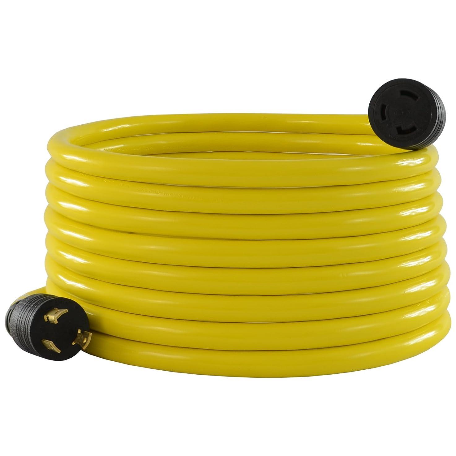 Conntek 20571: 30 Amp L5-30 Locking Style Generator Extension Cord, 25 Feet