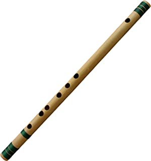RoyaltyRoute Professional Bamboo Flute Indian Flute C# Tune Wood Wind Music Instrument Length 18 Inch