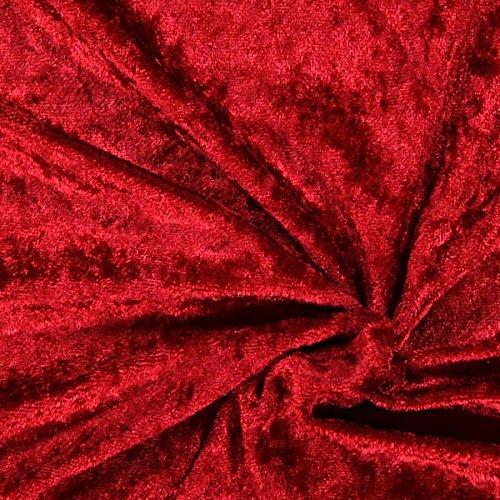 Fabulous Fabrics Pannesamt Karminrot – Weicher Samt Stoff zum Nähen von Kleider, Oberteile, Tücher und Tischdecke - Pannesamt Dekostoff & Bekleidungsstoff - Meterware ab 0,5m