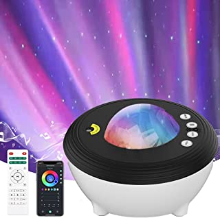 YunLone Aurora Projector Star Projector Galaxy Projector Lights for Bedroom Smart WIFI Night Light Lamp with Music speake...