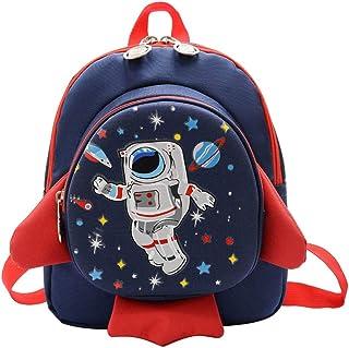 Lazeny Kids Backpack Spaceship Rucksack Cartoons Shoulder School Bag with Anti-Lost Harness Kindergarten Preschool Nursery...
