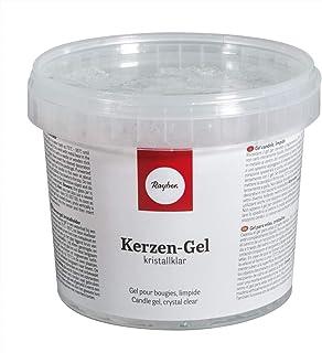 Rayher 3130200 Gel pour bougies, transparent, incolore, 1 pot de 750g (ca. 850ml), à faire fondre, à colorer, à parfumer, ...