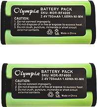 2 Pack BP-HP550-11 Replacement Battery for Sony BP-HP550-11 Headphone Battery (700mAh, 2.4V, Ni-MH)