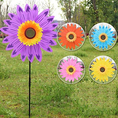 AERVEAL Molino de Viento, Gran Molino de Viento de Girasol de Doble Capa, Spinner de Viento, Juguetes para niños, decoración de jardín y Patio