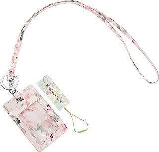 wonderful flower Id Case and Lanyard (Light Pink)