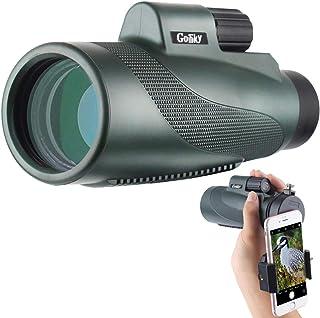 GOSKY 単眼鏡 望遠鏡 12 × 50高倍率 広角 12倍 高解像度 コンサート バードウォッチング スマートフォンアダプター 防水霧 耐衝撃 (1250みどり)