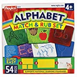 Roylco Alphabet Match & Rub Set Rubbing Plates