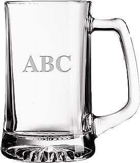 Personalized Beer Mugs - 16 oz Monogrammed Beer Stein Mug Custom Beer Gift - Choose Your Engraving Prime