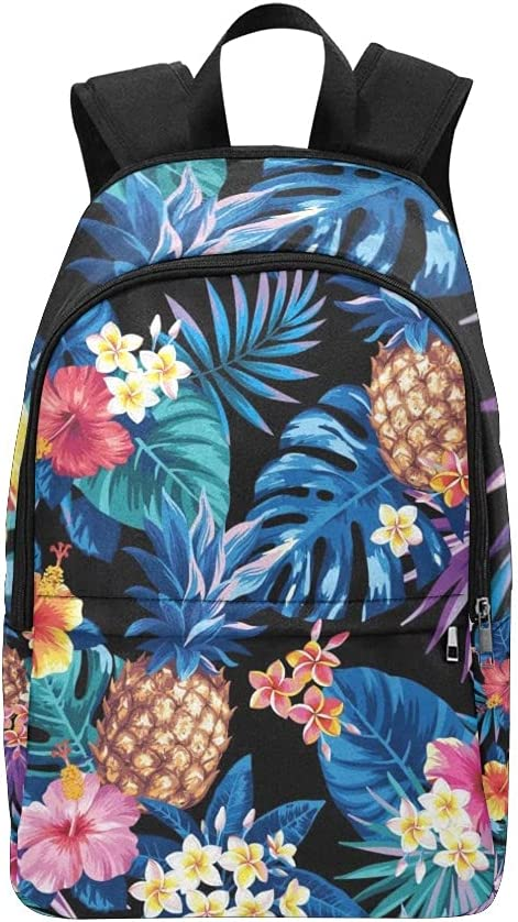 Hawaiian Pineapples Tropical Dealing full price reduction Palm Popular brand Leaves Boys Backpack Girls for
