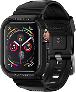 Spigen Rugged Armor PRO Cover/Case with Band designed for Apple Watch 44mm Series 5 / Series 4 - Black