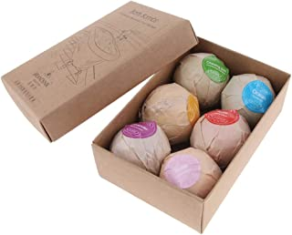 Blesiya Natural Essential Oils Bath Bomb Balls Gift Set for Bubble Bath, 6 Balls Per Box (Assorted Color), Relaxation Bath for Women and Kids