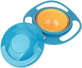 Surenhap Baby Gyro Bowl 360 /° Rotatif Bol Anti-/éclaboussures Bol gyroscopique avec Couvercle