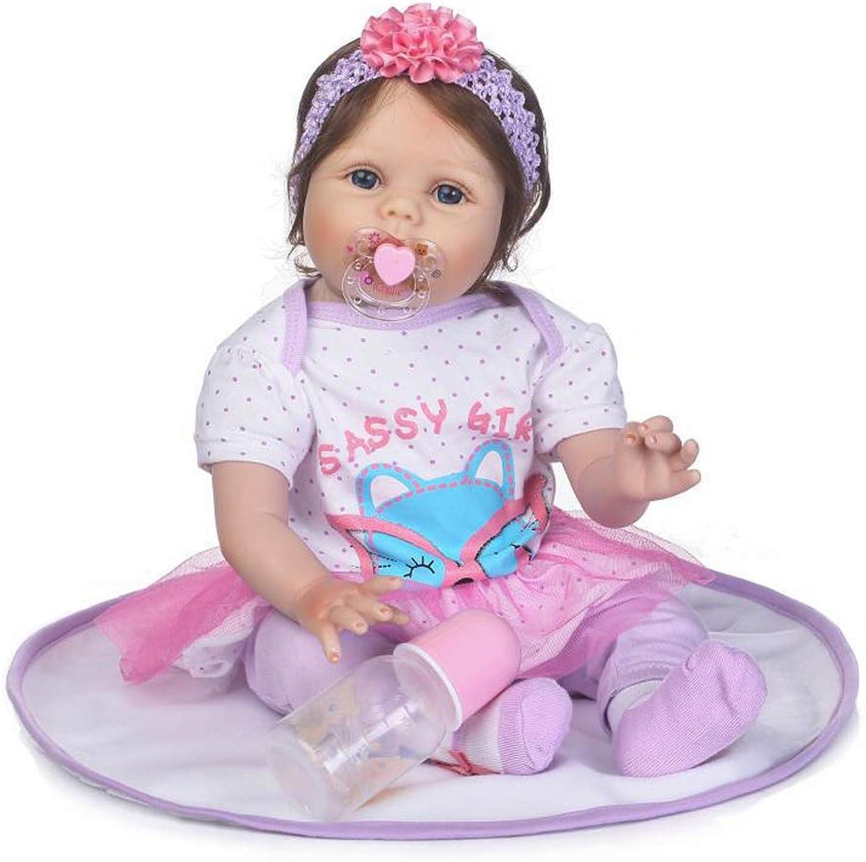 IIWOJ Reborn Babypuppe simuliert groe Augen weiche Silikonpuppe 55cm Fotografie Requisiten