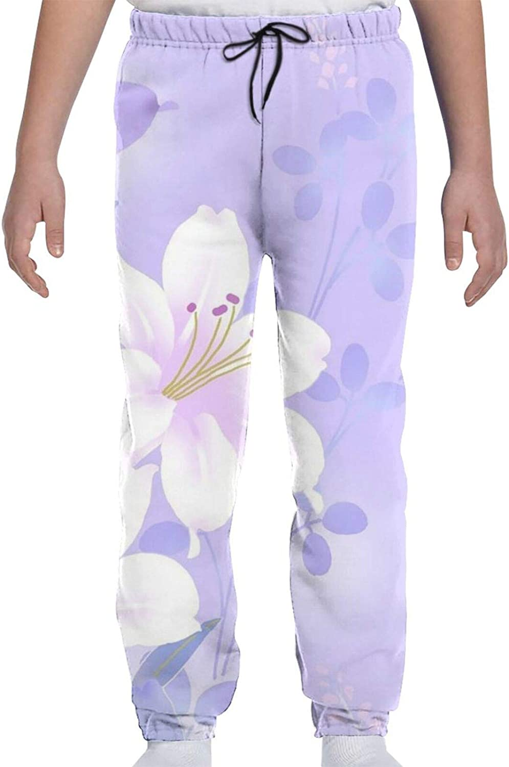 Ultra-Cheap Deals Limited price sale Yellow Flower Youth Sweatpants 3D Gir Teens Boys Trousers Print