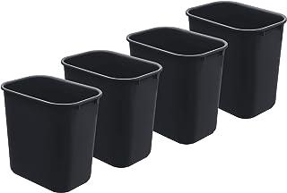 Acrimet Wastebasket Bin 24 Liter / 27QT (Plastic) (Black Color) (Set of 4)