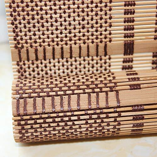 LIQI Bambusrollo Außen Bambus Jalousien, Anti-Schimmel-Pavillon Innen Roll Up Rolläden für Bar Restaurant Hotel-Wand-Dekor, Benutzerdefinierte Größe (Size : W 125×H 220cm)