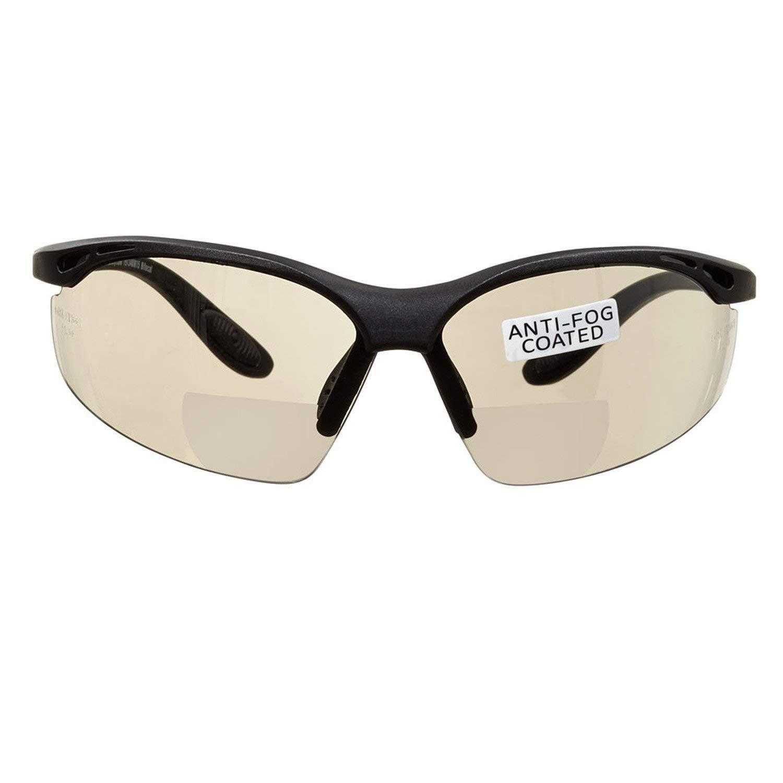 voltX 'CONSTRUCTOR' (ESPEJO dioptría +1.5) Gafas de Seguridad de Lectura BIFOCALES que cumplen con la certificación CE EN166F / Gafas para Ciclismo incluye cuerda de seguridad - Reading Safety Glasses