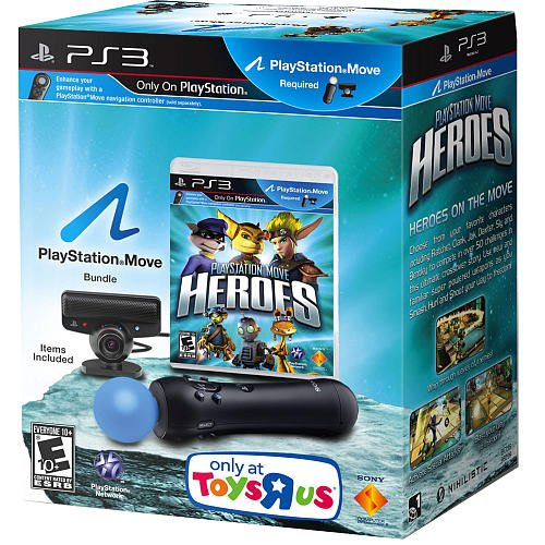 PS3 Playstation Move Heroes Bundle, Game and Motion Controller