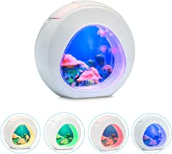 Little bees Electric LED Aquarium Tank Jellyfish Mood Night Lamp with Color Changing for Home Desktop Background Decor Lights Romantic Lovely Magic Lamp Gift for Kids …