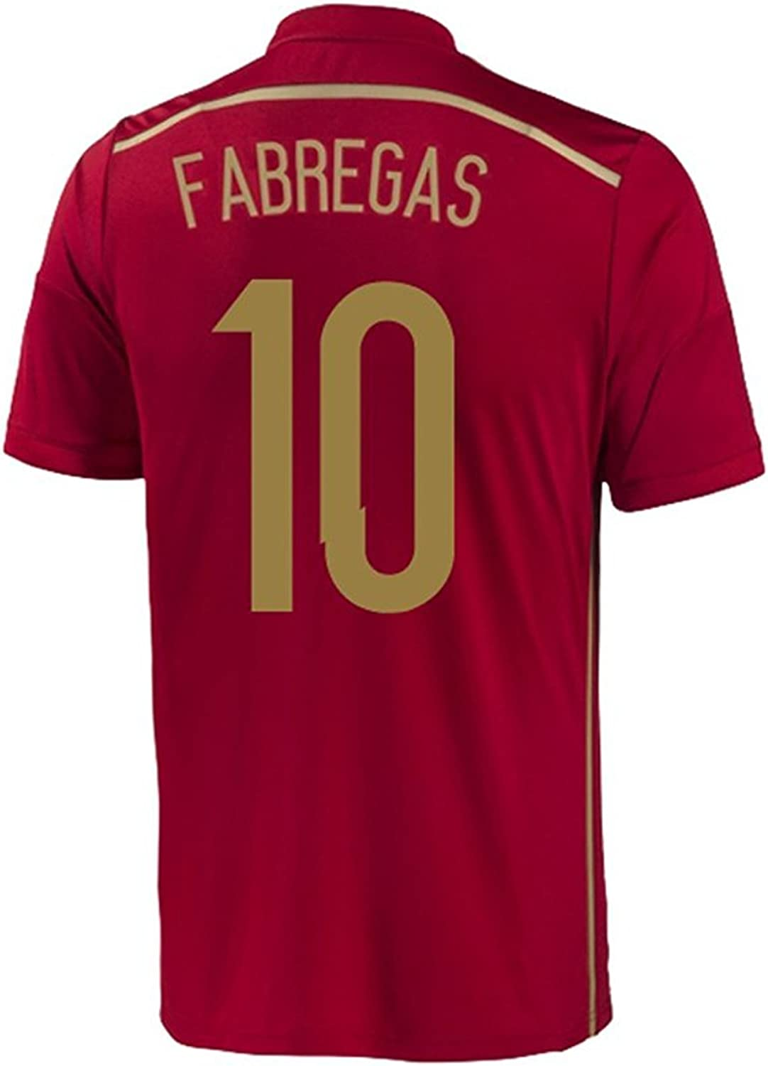 Adidas FABREGAS  10 Spain Home Jersey World Cup 2014 YOUTH