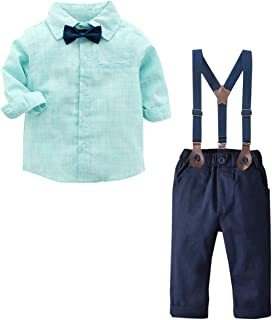ZL4CH Baby Boys 12 Months Clothes Set Crown White Polo Shirt+Jean Shorts Outfit