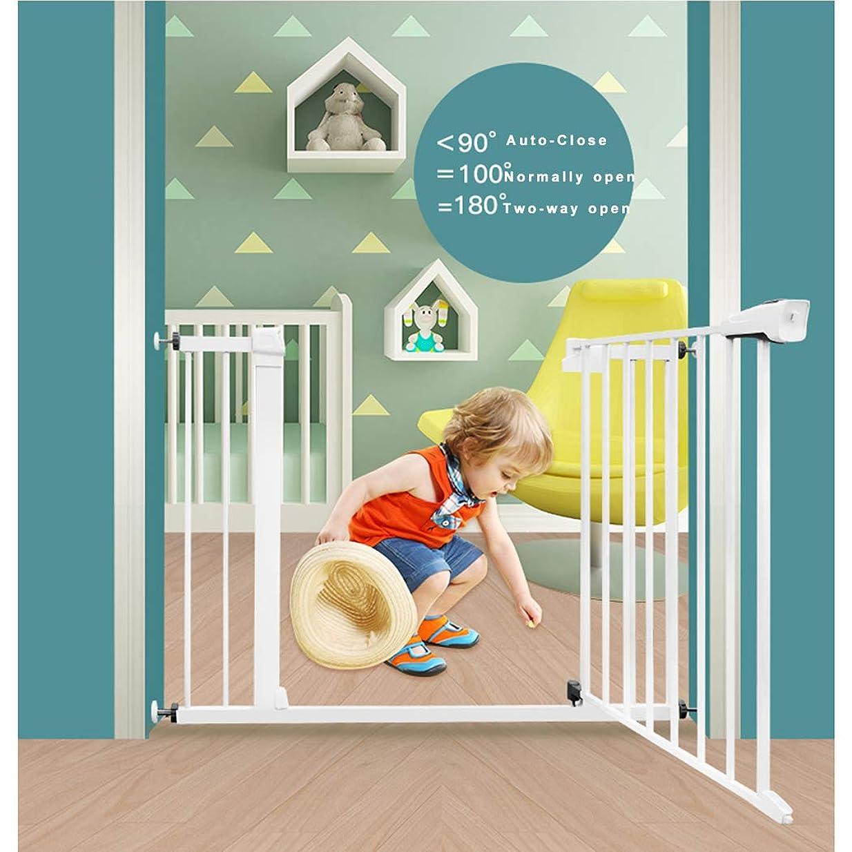 ベリーサラミねじれペット柵 ガード ス フェンス ドア 家庭用 キッチン 隔離ドア 簡単設置 安全ゲート用 ベビーゲート用 ペットゲート用(Color:高さ76cm,Size:75-82CM)