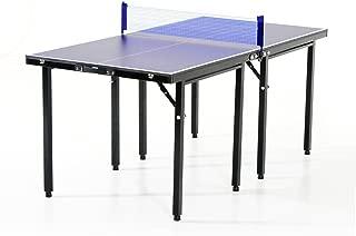 HOMCOM Mesa Ping Pong Plegable 153x76.5x67cm + Red Tenis