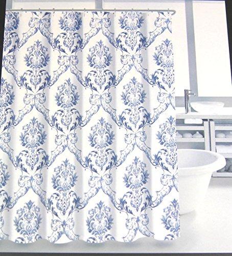Tahari Home Cognac Damask Medallion Fabric Shower Curtain