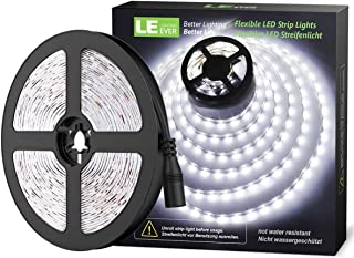 LE Tira LED Cadena de Luces 5m 300 LED SMD 2835 Blanco Frío No Impermeable 6000K para Techo Escaparate Muebles etc.