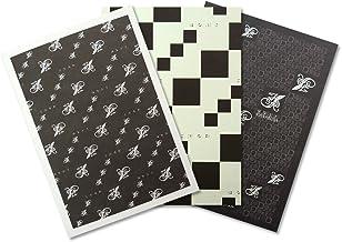 HANABUSA(はなぶさ) B6ノート 3種アソート D:ブラックセット(ライン、ホワイト、TO DO LISTノート 3種類 各1冊 合計3冊セット)