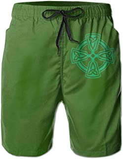 Jiger Viking Symbol Nordic Compass - Men's Summer Shorts Casual Swim Trunks Beach Shorts M