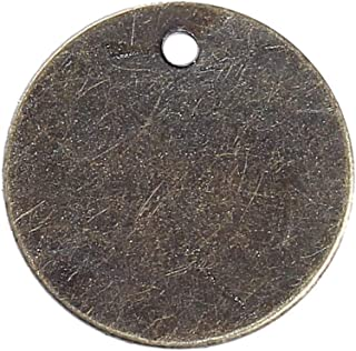 200 Antique Bronze Tone 9/16 Inch Metal Blanks Round Circle Metal Stamping Blank and Crafting Tags 15mm Diameter Stamping Blanks