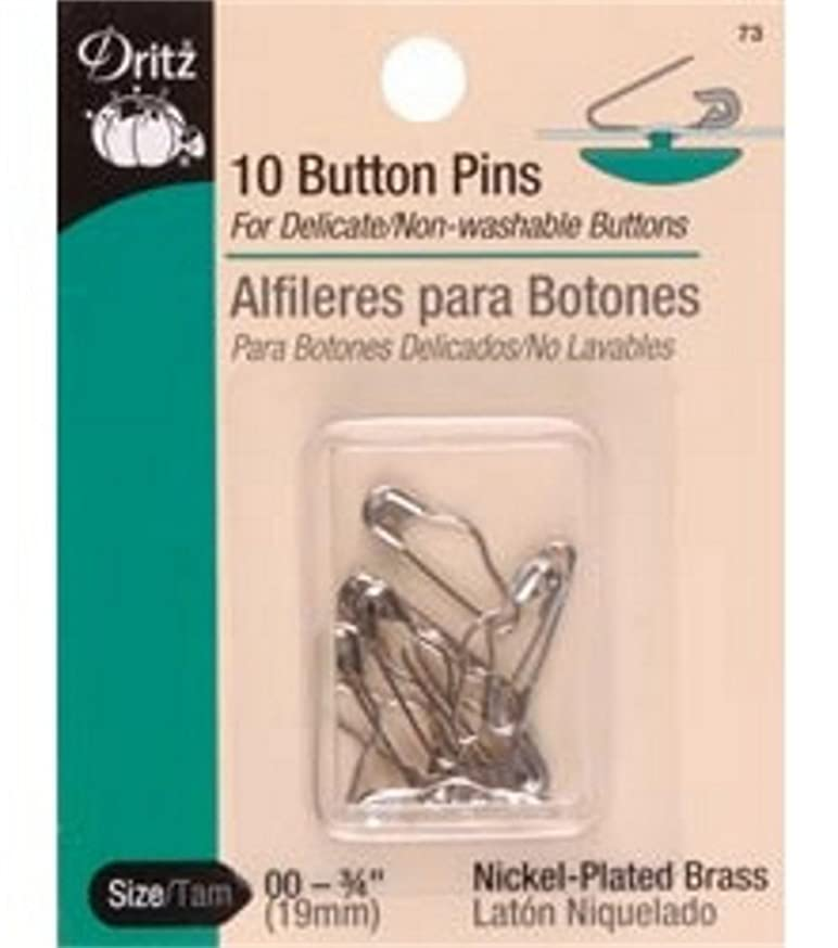 Dritz(R) Button Pins -10/Pkg 3/4 Inch