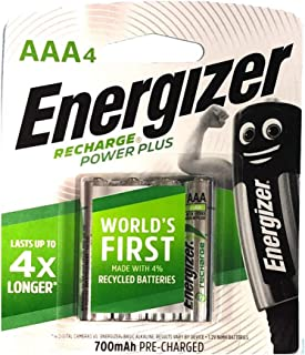 Energizer Rechargeable Power Plus AAA Batteries -Pack of 4 NH12 URP4 700 MAH