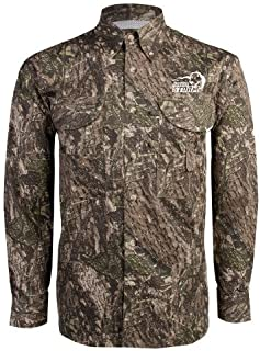 Southeastern Oklahoma State Camo Long Sleeve Performance Fishing Shirt 'New Primary Logo Embroidery'