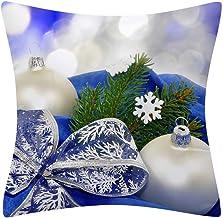 Weilov Taie d'oreiller Glitter Polyester Canapé Throw Housse de Coussin Décor À La Maison Blanc Taie d'oreiller en Daim De...
