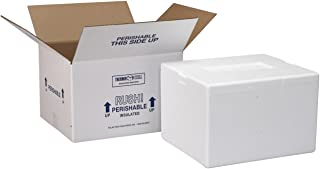 Polar Tech 204C Thermo Chill Insulated Carton with Foam Shipper, Small, 8
