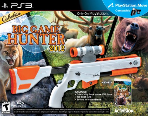 Activision Cabela's Big Game Hunter 2012, PS3 + Top Shot Elite