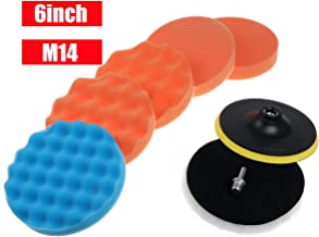 NICOLIE 8pcs 3/4/5/6/7 Inch Almohadilla de Pulido para Pulido de automóvil con Adaptador de Taladro Juego de tampón Manual - 6 Pulgadas