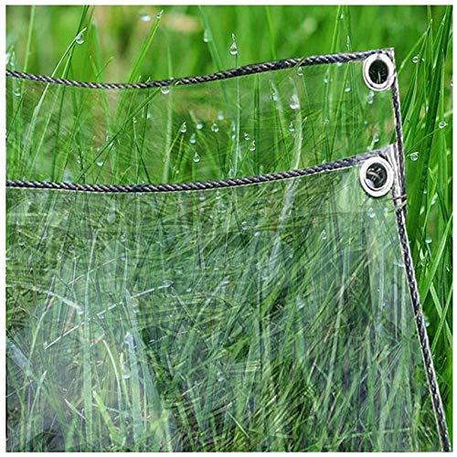 Lona de PVC Transparente Impermeable para Piscinas Exterior,Tela de Plástico de Balcón,Toldos de Jardín al Aire Libre,Cobertizo de Hojas de Plantas a Prueba de Lluvia,con Ojales (1.2x3m/3.9x9.8ft)
