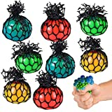 ArtCreativity 1.75 Inch Mesh Stress Balls for Kids - Pack of 24 - Squeeze Toys in Assorted Colors for Anxiety Relief and ADHD - Fun Birthday Party Favors, Treasure Box Prizes for Classroom