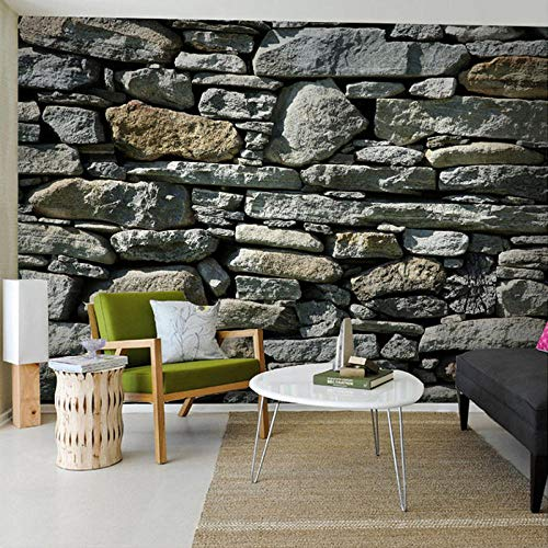 Custom 3D Photo Stone Brick Wall Wallpaper Country Style Wall Mural Elders' Room Embossed Paper Wallpapers Home Improvement-200 * 140cm