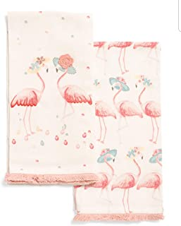 TT & Lola Pink Flamingos Kitchen Tea Towel Set