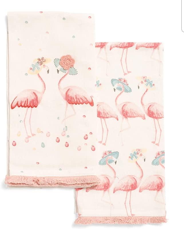 TT Lola Pink Flamingos Kitchen Tea Towel Set