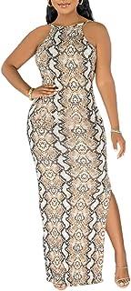Women's Backless Bodycon Maxi Dress Spaghetti Strap...