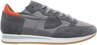 bacd52764c41da Philippe Model Chaussures Sneakers Hommes Paris Tropez Mondial Gris Orange