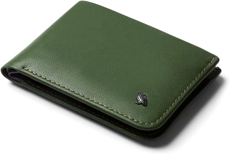 Bellroy Hide & Seek, slim leather wallet, RFID editions available (Max. 12 cards and cash) - RangerGreen