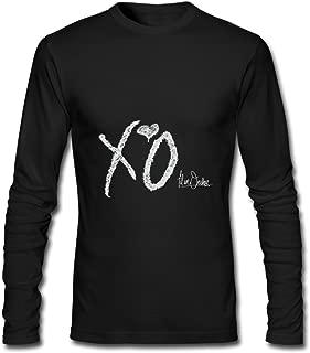 The Weeknd Starboy Tour 2017 XO Fan Logo Long Sleeve T-Shirts for Men Black
