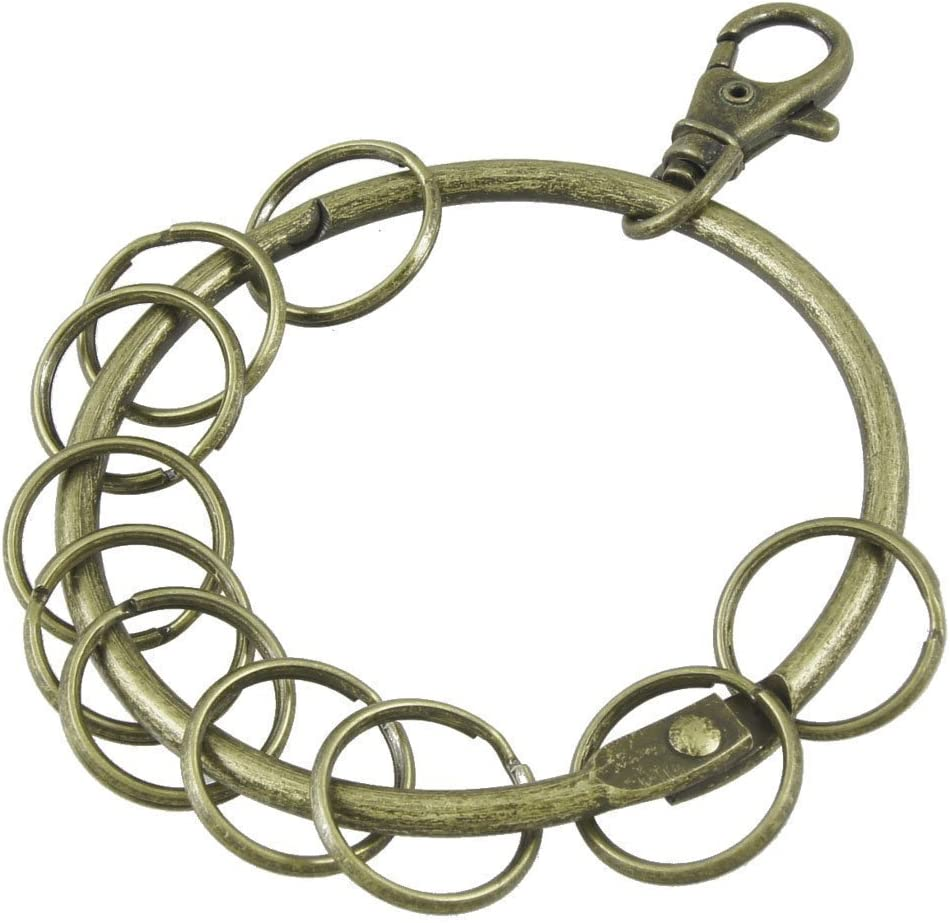 Outlet ☆ Free Max 54% OFF Shipping Home Mart Vintage Bronze Heavy Duty Hinged B Ring Binding Large